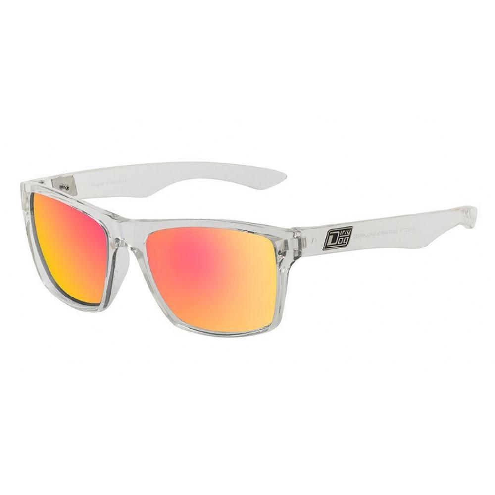 DIRTY DOG Polarised VENDETTA Sunglasses Crystal Clear Red POLARIZED  53329