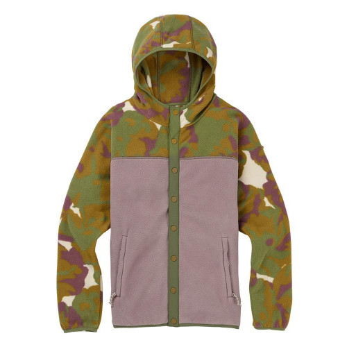 Burton Womens Hearth Snap-up Fleece Pop Floral / Quail