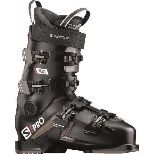Salomon S/PRO 100 Ski Boots Black/Belluga/Red 2020
