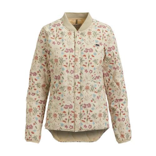 Burton Womens Kiley Insulator Jacket Creme Fresh Pressed