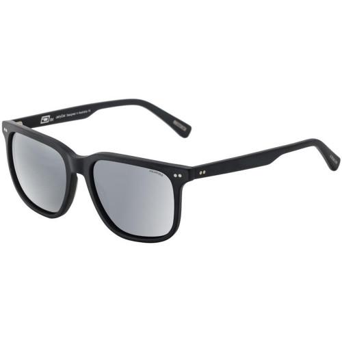 Dirty Dog RX Jellycat Sunglasses Satin Black - Grey/Silver Flash Polarized