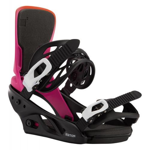Burton Lexa Re:Flex Womens Snowboard Bindings Sunset/Black 2021