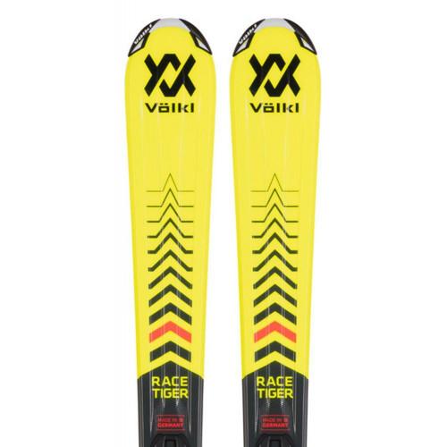 Volkl JR Racetiger Junior Skis + Vmotion 4.5 JR Bindings