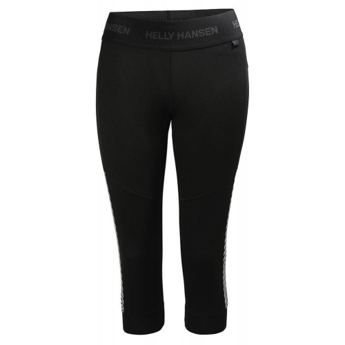 Helly Hansen Womens Lifa 3/4 Baselayer Pant Black