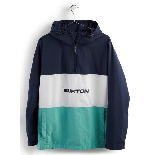 Burton Men's Antiup Anorak Jacket Dress Blue/Buoy Blue