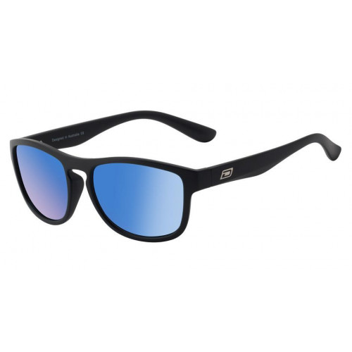 Dirty Dog Venturer Sunglasses Matt Black - Ice Blue Mirror Polarised Lens