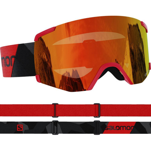 Salomon S/VIEW Goggles Black/Red - Universal Mid Red Lens