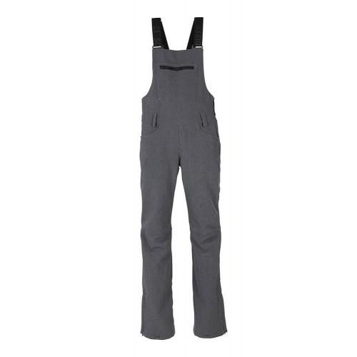 686 Womens Gossip Softshell Bib Pants Grey Melange 2020