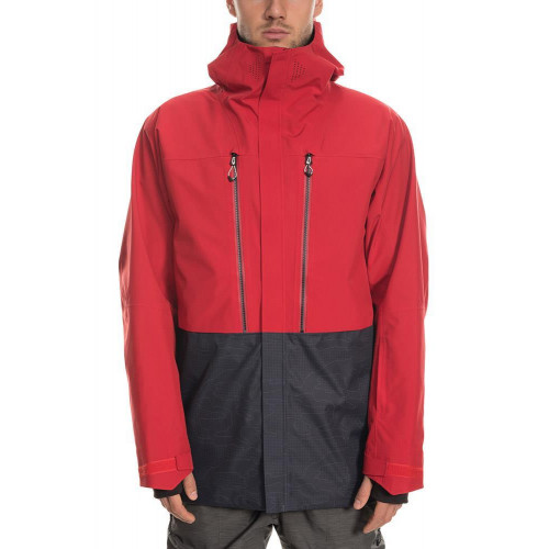 686 Mens GLCR Ether Down Therma Jacket Red Colorblock 2020