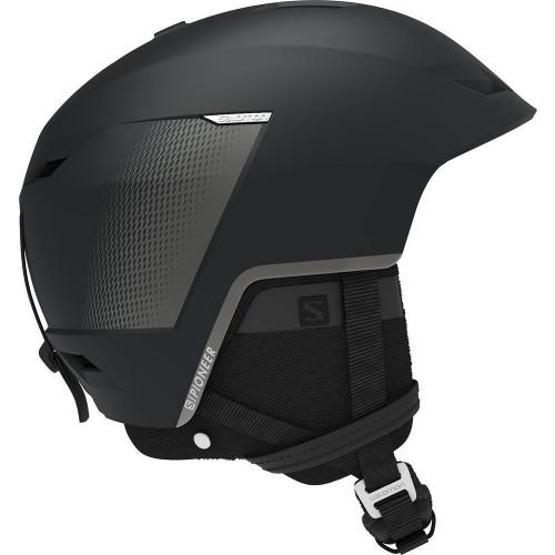 Salomon Pioneer LT Custom Air Ski + Snowboard Helmet Black Tech