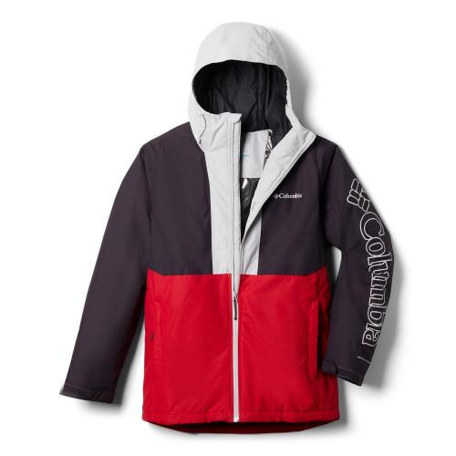 Columbia Timberturner Mens Jacket Mountain Red/Dark Purple/Nimbus Grey