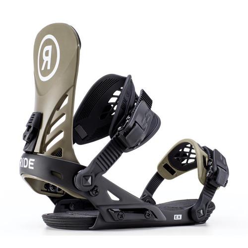 Ride EX 2019 Snowboard Bindings Olive