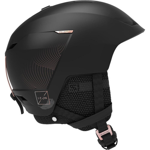 Salomon Icon LT Custom Air Womens Ski + Snowboard Helmet Black
