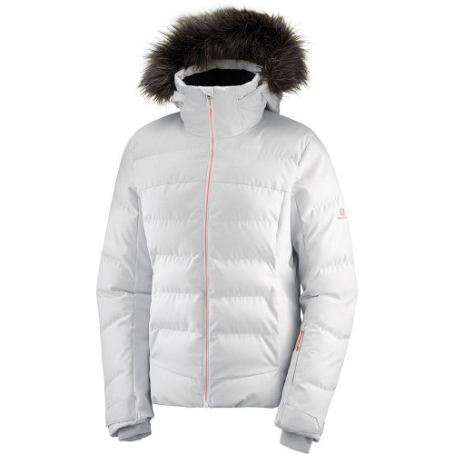 Salomon Stormcozy Womens Jacket  White/Lunar Rock 2020