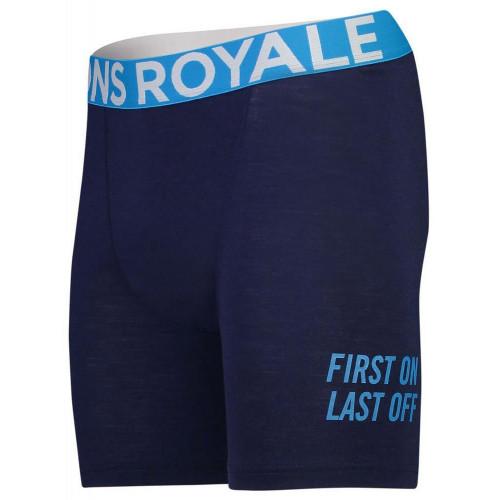Mons Royale Mens Hold 'em Merino Boxers Navy
