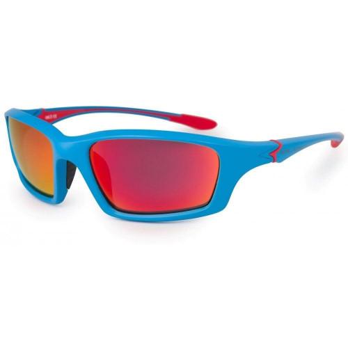 Bloc Talon Junior Sunglasses Matt Blue - Red Mirror Cat.3 Lens