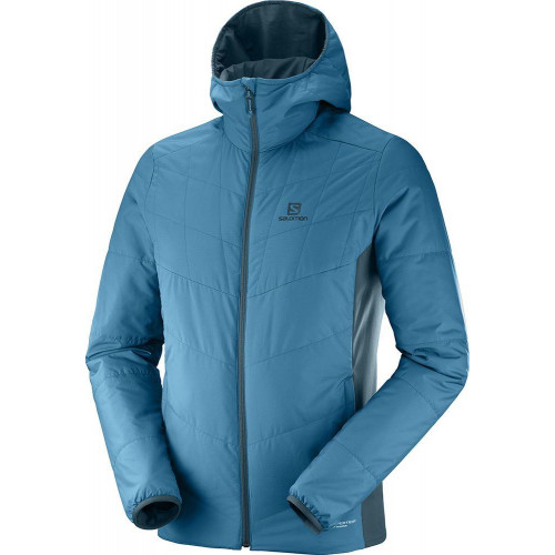 Salomon Drifter Mid Hoodie Jacket Moroccan Blue / Reflecting Pond