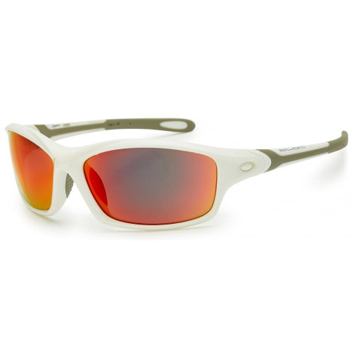 Bloc Daytona Sunglasses Shiny White - Red Mirror Lens
