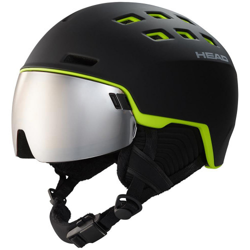 Head Radar Visor Ski + Snowboard Helmet Black/Lime