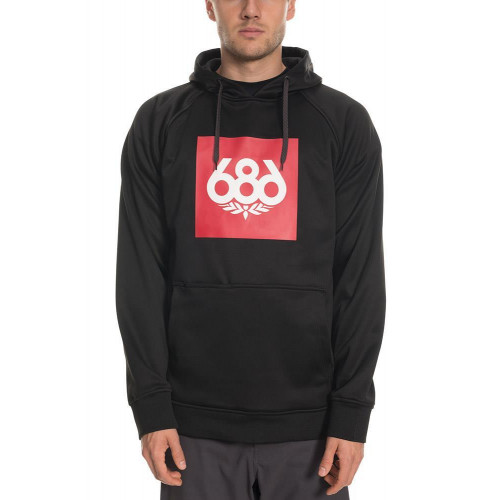 686 Mens Knockout Bonded Fleece Pullover Black