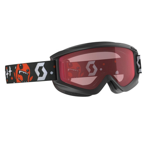 Scott Agent Junior Goggles Black / Red - Enhancer Lens