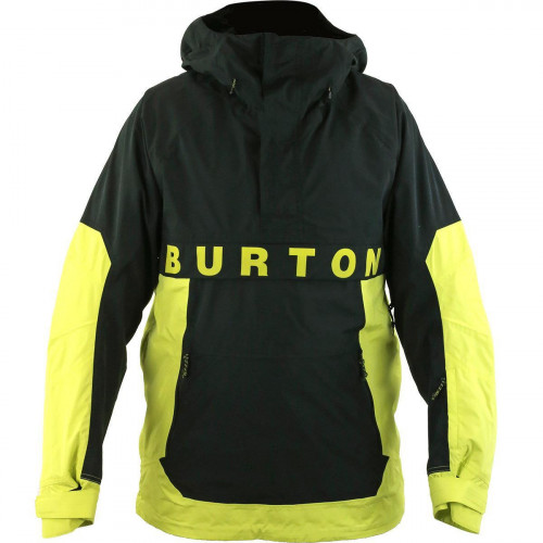 Burton Frostner Anorak Mens Jacket Limeade/True Black