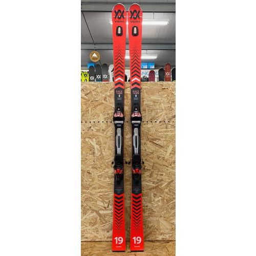 Volkl Racetiger GS 2021 Ex-Demo Skis + Rmotion 12 GW Bindings 180cm