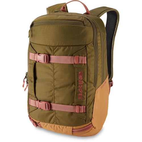 Dakine Women's Mission Pro 25L Backpack Dark Olive / Caramel