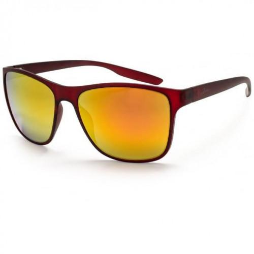 Bloc Cruise Sunglasses Black / Red Temples - Polarised Red Mirror Lens