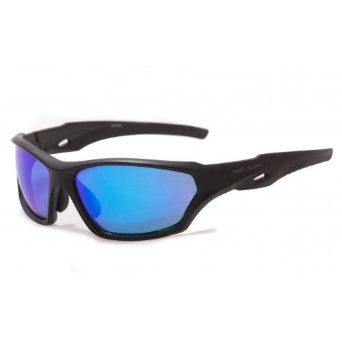 Bloc Beck Mens Sunglasses Matt Black - Blue Mirror Cat.3 Lens