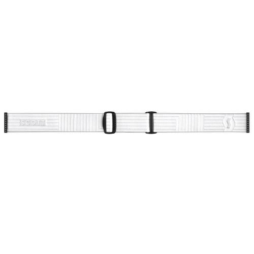 Scott Shield LS Goggles White - Light Sensitive Bronze Chrome Lens