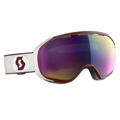 Scott Fix Goggles White/Merlot Red - Enhancer Teal Chrome Lens