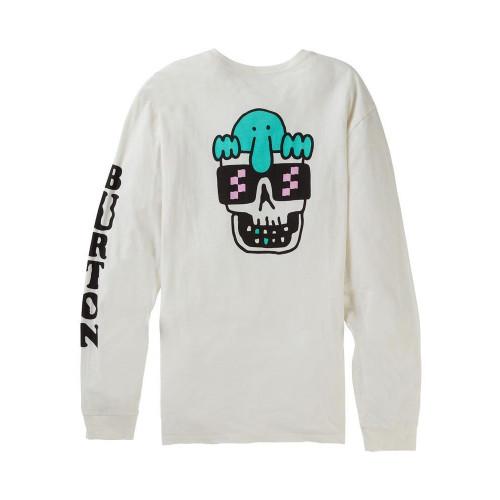 Burton Mens Kilroy LS T-Shirt Stout White