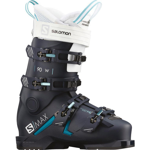 Salomon S/MAX 90 W Womens Ski Boots Petrol Blue/Scuba Blue/White 2020