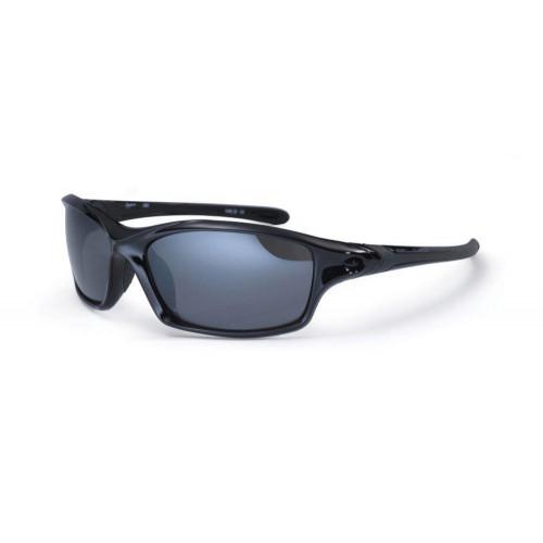 Bloc Daytona Sunglasses Shiny Black - Polarised Grey Lens