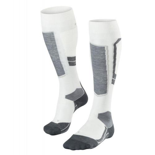 Falke SK4 Merino Wool Womens Ski Socks Off-White