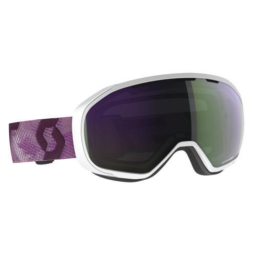 Scott Fix Womens Goggles White/Cassis Pink - Enhancer Green Chrome Lens