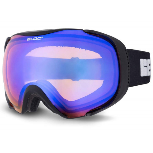 Bloc Mask Goggles Matt Black - Orange Blue Lens