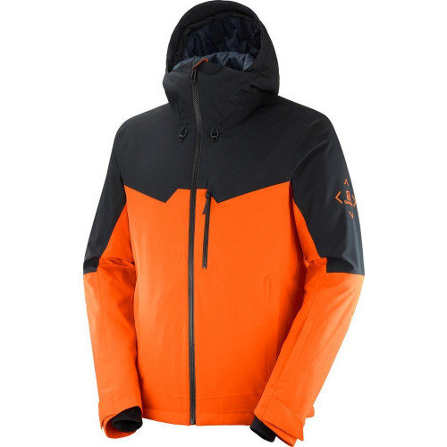 Salomon Untracked Mens Jacket Red Orange/Black/Heather