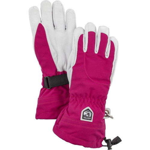 Hestra Heli Ski Womens Gloves Fuchsia/Off White