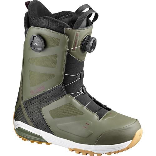 Salomon Dialogue Focus BOA Snowboard Boots Dark Olive/Fig/Black 2020