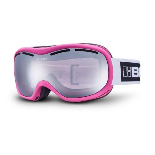 Bloc Drift Womens Goggles Matt Pink - Light Purple Mirror Silver Lens