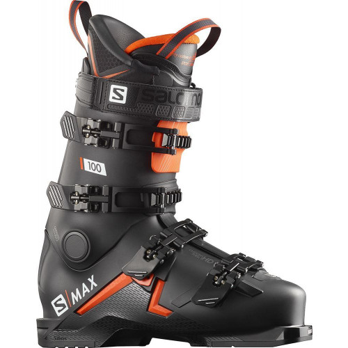Salomon S/MAX 100 Ski Boots Black/Orange/White 2020