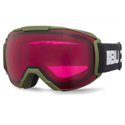 Bloc Small Fit Twenty-Five Junior Goggles Matt Green - Dark Rose Lens