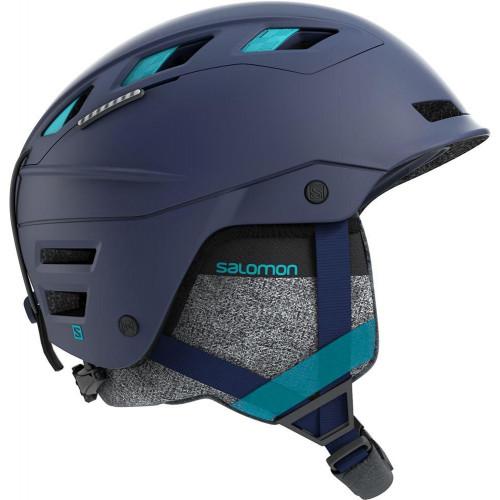 Salomon QST Charge Womens Ski + Snowboard Helmet Wisteria Navy/Blue Bird