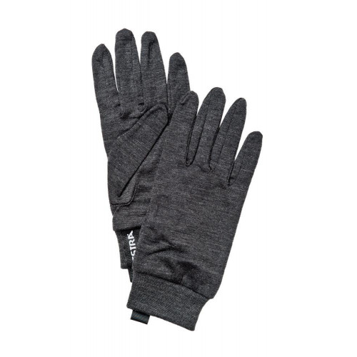 Hestra Merino Wool Unisex Active Liner Gloves Charcoal