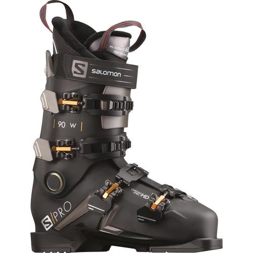 Salomon S/PRO 90 W Womens Ski Boots Black/Belluga/Golden Glow 2020