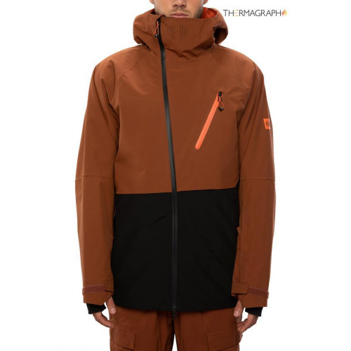 686 GLCR Men's Hydra Thermagraph Jacket Clay Colorblock