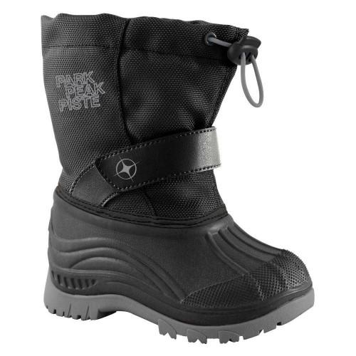 Manbi Explore Junior Snow Boots Black/Silver
