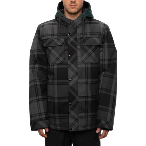 686 Men's Woodland Insulated Jacket Dark Spruce Plaid